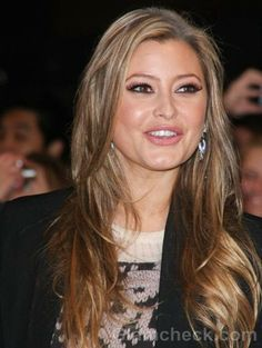 Holly Valance hair color - ash blonde brown highlights
