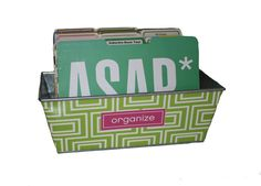 Desktop file boxes for keeping your paperwork...Collins Apple - File Box  OfficeCandy.com
