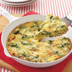 Broccoli and Feta Frittata Recipe Breakfast and Brunch with unsalted butter, onions, broccoli florets, pepper, salt, large eggs, feta cheese