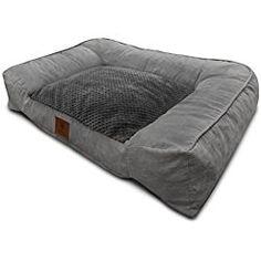 American Kennel Club Memory Foam Sofa Pet Bed, X-Large, Gray