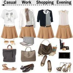 Four ways to wear a miniskirt, created by helleka on Polyvore