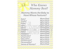 Yellow and Grey Baby Shower Game Yellow and by BabyShowerBakery