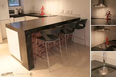 Cast concrete counter top in Charcoal