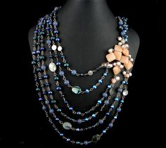 Storm necklace created by my wife.  Inspired by a storm we watched together in the Black Hills.  She's selling it for $149.00 My Wife Is, Studios, Beaded Necklace, Jewelry Design, Inspired, Inspiration, Black, Fashion, Beaded Collar