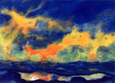 Autumn Sky at Sea Emile Nolde - circa 1940