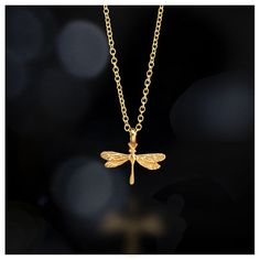 free spirit dragonfly necklace, 18k gold - Dogeared #dogeared #sharethehappy