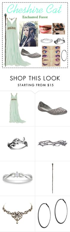 """""""Cheshire Cat - Cathrine Tulgey_Once Upon A Time (ouat) OC"""" by p3ych0tic-fangir1 ❤ liked on Polyvore featuring Marchesa, Melissa, Pearls Before Swine, Miadora, Rubie's Costume Co. and Plukka"""