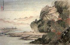 Китайская пейзажная живопись в эпоху Цин 清 « Школа живописи У-Cин