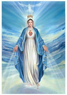 Blessed Virgin Mary (BVM) was similar to Isis, Egyptian Goddess of Home and Family and known as the Queen of Heaven Blessed Mother Mary, Divine Mother, Blessed Virgin Mary, Jesus Mother, Religious Pictures, Jesus Pictures, Catholic Art, Religious Art, Catholic Religion