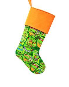 Teenage Mutant Ninja Turtles Stocking, Christmas Stocking, Michaelangelo, the orange masked turtle