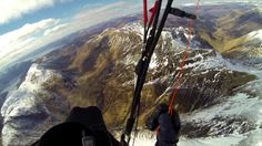 Paragliding Scotland  in Spring 2013. Flying from Ben Toaig to Loch Cluanie on a really nice XC flight.