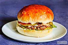 hamburger and a self made hamburger bun
