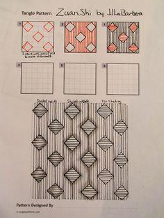 Tinker Tangles: Tangle Pattern: Zuan Shi