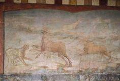 Pompeji - Pompeji, Haus M.L.Fronto,Panther u.Stier