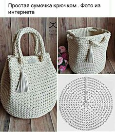 Crochet Case, Free Crochet Bag, Crochet Storage, Mode Crochet, Crochet Diy, Crochet Crafts, Crotchet Bags, Knitted Bags, Crochet Handbags