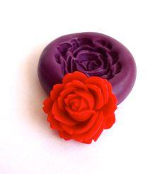 Rose Mold / Polymer clay Mold / Candy Mold by creativeDIYsupplies