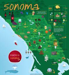 Sonoma Itineraries Brochure! By SomethingAboutSonoma.com Sonoma County Ca, Sonoma California, Us Honeymoon Ideas, Sonoma Plaza, Places To Travel, Places To Go, Sonoma Wine Country, Travel Brochure, Day Trips