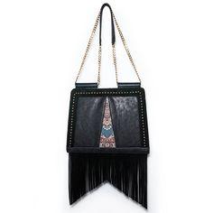 Handbag with adjustable shoulder strap inspired by Persian culture. Persian Culture, Handmade Bags, Carry On, Shoulder Strap, Inspired, Fabric, Collection, Tejido, Handmade Purses