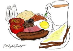 The English Breakfast. With parents from a former British colony, I grew up eating this on Saturday mornings. English Breakfast, The Breakfast Club, Breakfast Time, Breakfast Menu, Breakfast Ideas, British College, Bangers And Mash, Food L, Breakfast