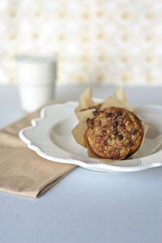 Banana Muffins with Chocolate Chip Streusel Topping - Against All Grain - Award Winning Gluten Free Paleo Recipes to Eat Well & Feel Great