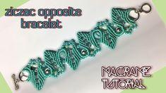 Macrame tutorial - The opposite zigzag bracelet - Basic and simple - YouTube