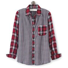 Yarn-Dyed Mixed Plaid Shirt - Women's Clothing, Unique Boutique Styles & Classic Wardrobe Essentials