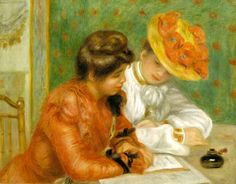pierre-auguste-renoir- La lettre, 1896, Sterling and Francine Clark Art Institute, Williamstown