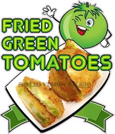 "14"" Fried Green Tomatoes Tomato Concession Trailer Food Truck Sign Sticker Decal #SolidVisionStudio"