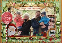 this design featuring pic of my brother and his family, wife Diane, my neice Emily and my nephew Jack