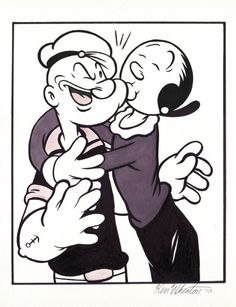 Popeye the Sailor Man I wanna get a marriage tattoo with olive oyl and popeye =]