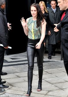 Sick leather pants. Love the way they look like they're connected to the shoe....