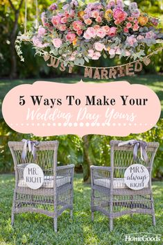 From the trend you choose to the décor you use, make your special day stylish, chic, and elegant with these 5 simple ways to make your wedding day yours.  Say 'I Do' to do-it-yourself inspiration and ideas for your special day – learn more on our blog!