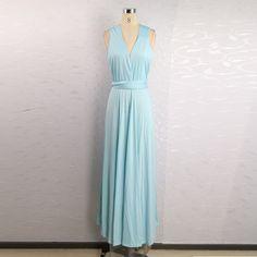 Hot 2016 summer sexy women maxi dress red bandage long dress sexy Multiway Bridesmaids Convertible Dress robe longue femme (17)