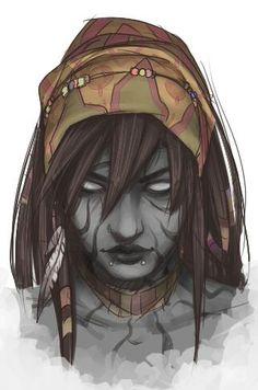 Female Goliath Portrait, Barbarian, Bard, Cleric, Druid, Fighter, Monk, Paladin, Ranger, Rogue, Sorcerer, Warlock, Wizard