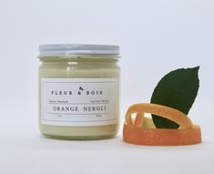 ORANGE NEROLI   Handmade Candle   Pure Soy   Unique Blend of Pure Essential Oils   Ideal for Aromatherapy Home Decor & Gifts Oil Mix, Handmade Candles, Glass Containers, Pure Essential Oils, Burning Candle, Soy Candles, Biodegradable Products, Aromatherapy, Wax