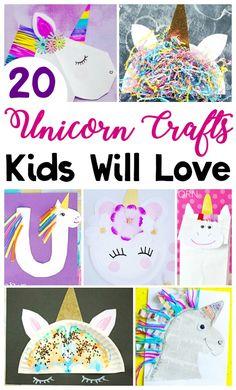 Here are 20 fun unicorn crafts for the kids to make! Unicorn – Credits: Craftymorning.com