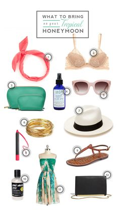 What to Bring on your Tropical Honeymoon