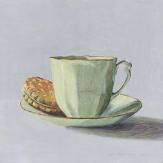 I am a painter and illustrator, specialising in food art. Tea Cup Art, Tea Cups, Joel Penkman, Food Illustrations, Illustration Art, Tea Cup Drawing, Tee Kunst, Gcse Art Sketchbook, Cafe Art