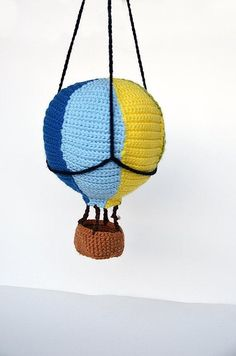 Hot Air Balloon - Adventure Amigurumi Toy - CROCHET PATTERN No.131