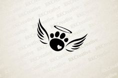 This rainbow bridge pet loss paw print with angel wings decal is perfect for any. - This rainbow bridge pet loss paw print with angel wings decal is perfect for any animal lover that - Cute Tattoos, Body Art Tattoos, Small Tattoos, Tattoos Skull, Tatoos, Tattoos For Pets, Cat Paw Tattoos, Diy Tattoo, Tattoo Life
