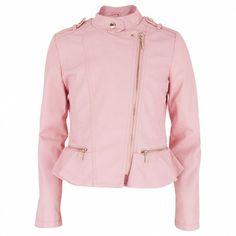 Rosa Pleather Biker Jacket