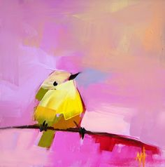 Warbler no. 28 Bird Painting | angela moulton's painting a day