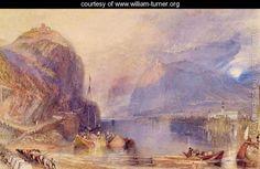 The Drachenfels, Germany, c.1823-24 - Joseph Mallord William Turner - www.william-turner.org