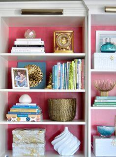 Great bookshelf styling. via Centsational Girl