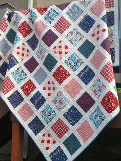 Red White and Blue Quilt - quilt of valor - 4th of July