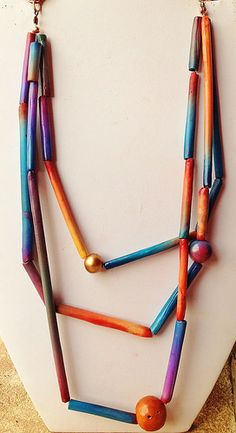 Polymer clay, necklace | Flickr - Photo Sharing!