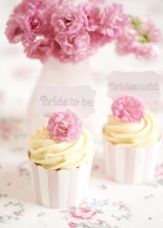wedding cupcake by petite homemade Vanille-Cupcake mit weißer Schoki-Ganache