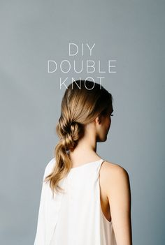 DIY Double Knot Ponytail. A creative and elegant twist on a traditional ponytail. This is perfect for girls with medium to long hair.