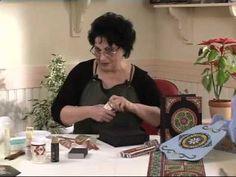 Mozaik tekniği Ahşap boyama efektleri - YouTube