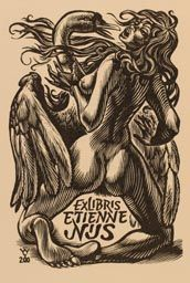 Exlibris by Johann Naha from Germany for Jørgen Vils Pedersen - Leda and the Swan Mythology - Wood engraving Aesthetic Theory, Biblical Art, Dark Fantasy Art, Wood Engraving, High Art, Ex Libris, Tantra, Erotic Art, Cover Art